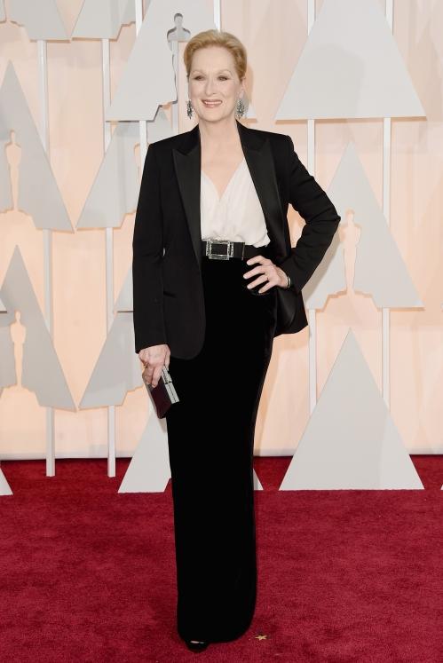 Meryl Streep, in Lanvin