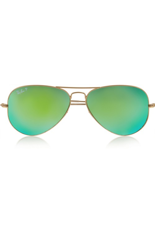 b1729acdc7b5 Green aviator sunglasses by Ray-Ban